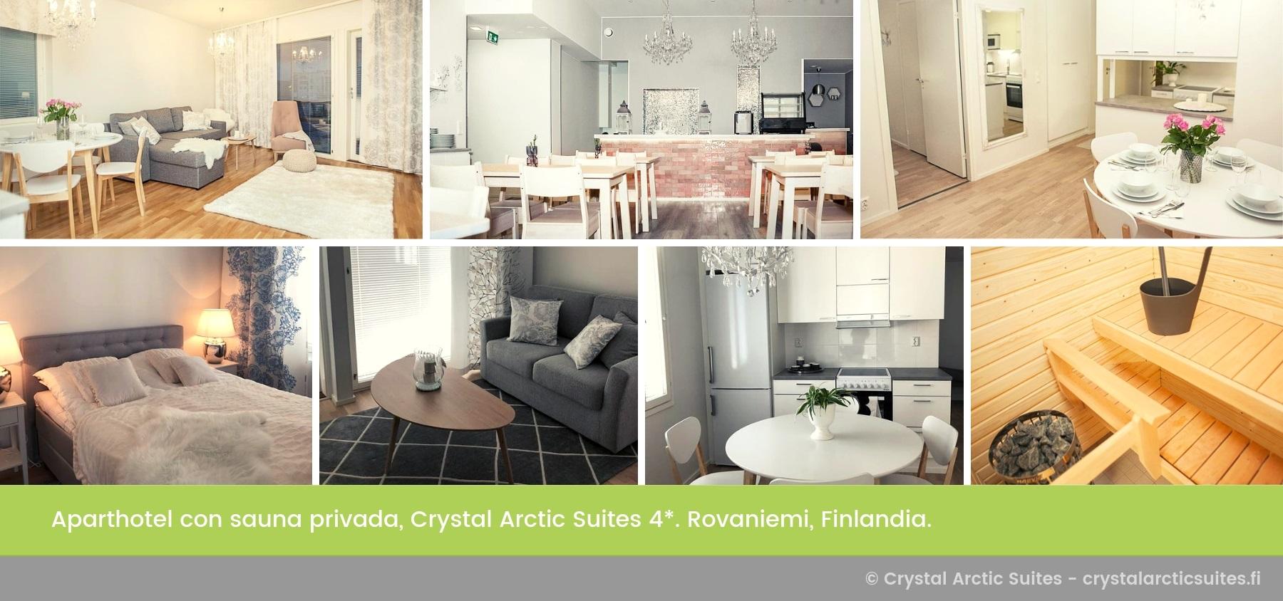 Apartamento Crystal Arctic Suites 4 Estrellas Rovaniemi Laponia Finlandia