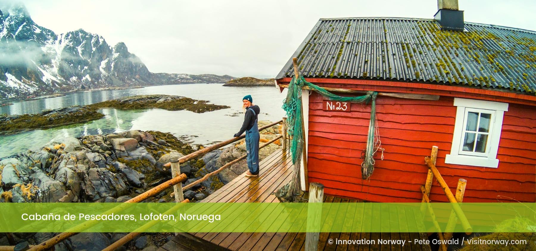 Cabaña de Pescadores, Lofoten, Noruega