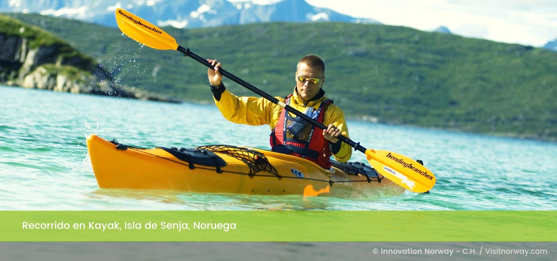 Recorrido en kayak Isla de Senja, Noruega