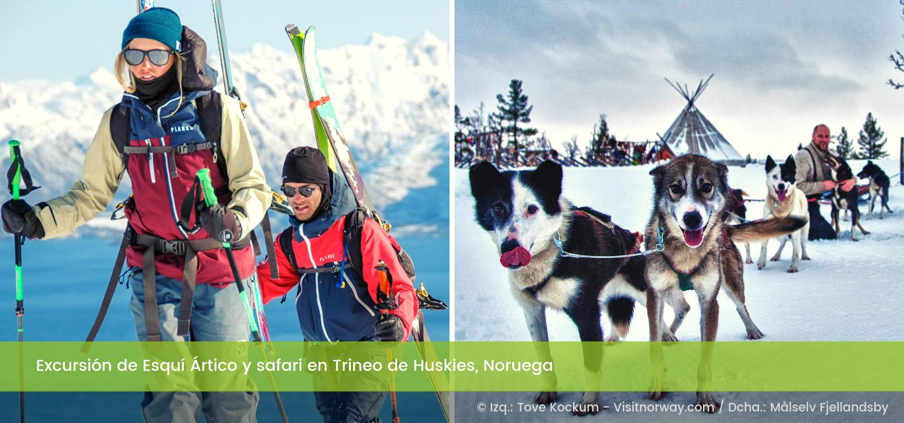 Esquí Ártico de Fondo y Trineos de Huskies Målselv Noruega