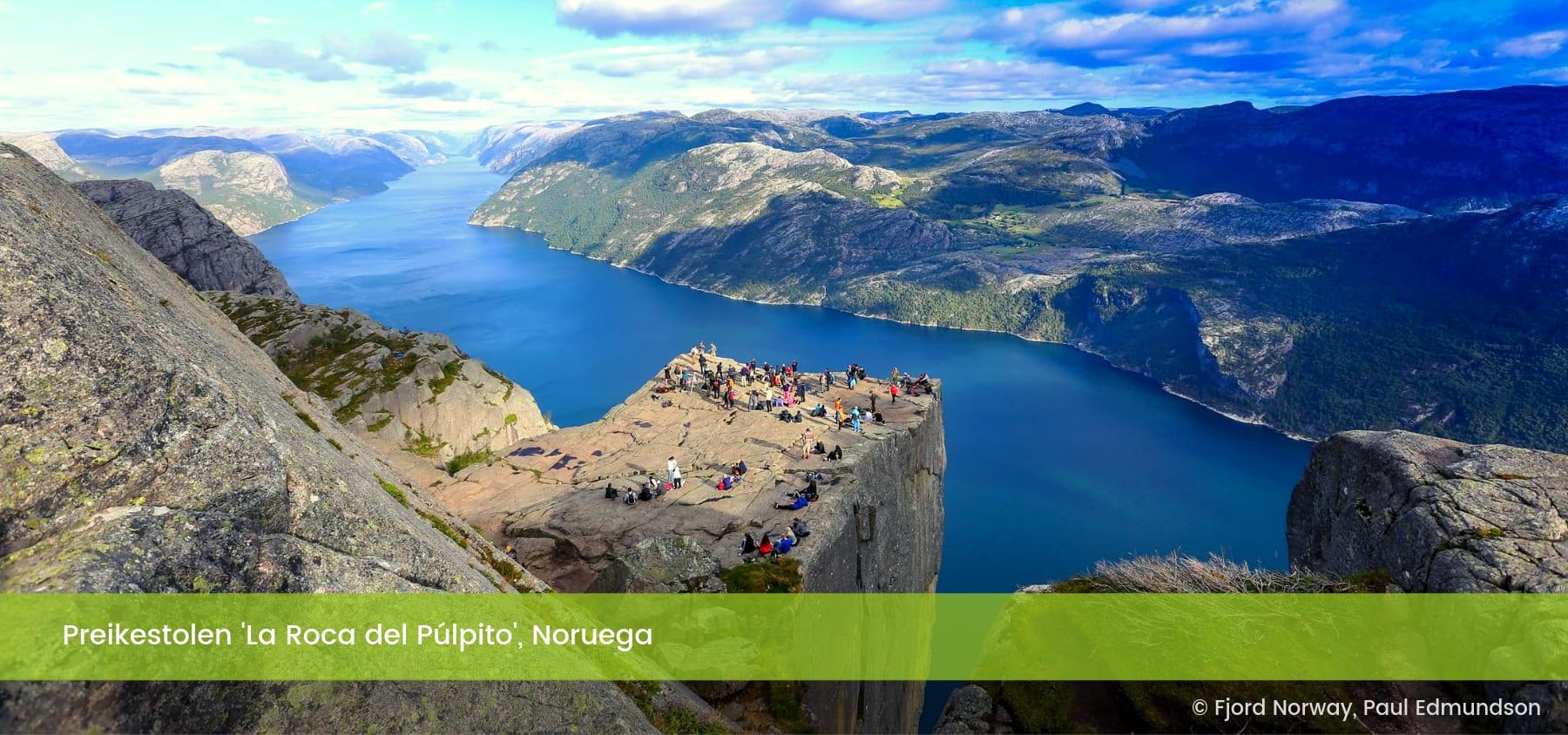 Preikestolen La Roca del Púlpito Noruega