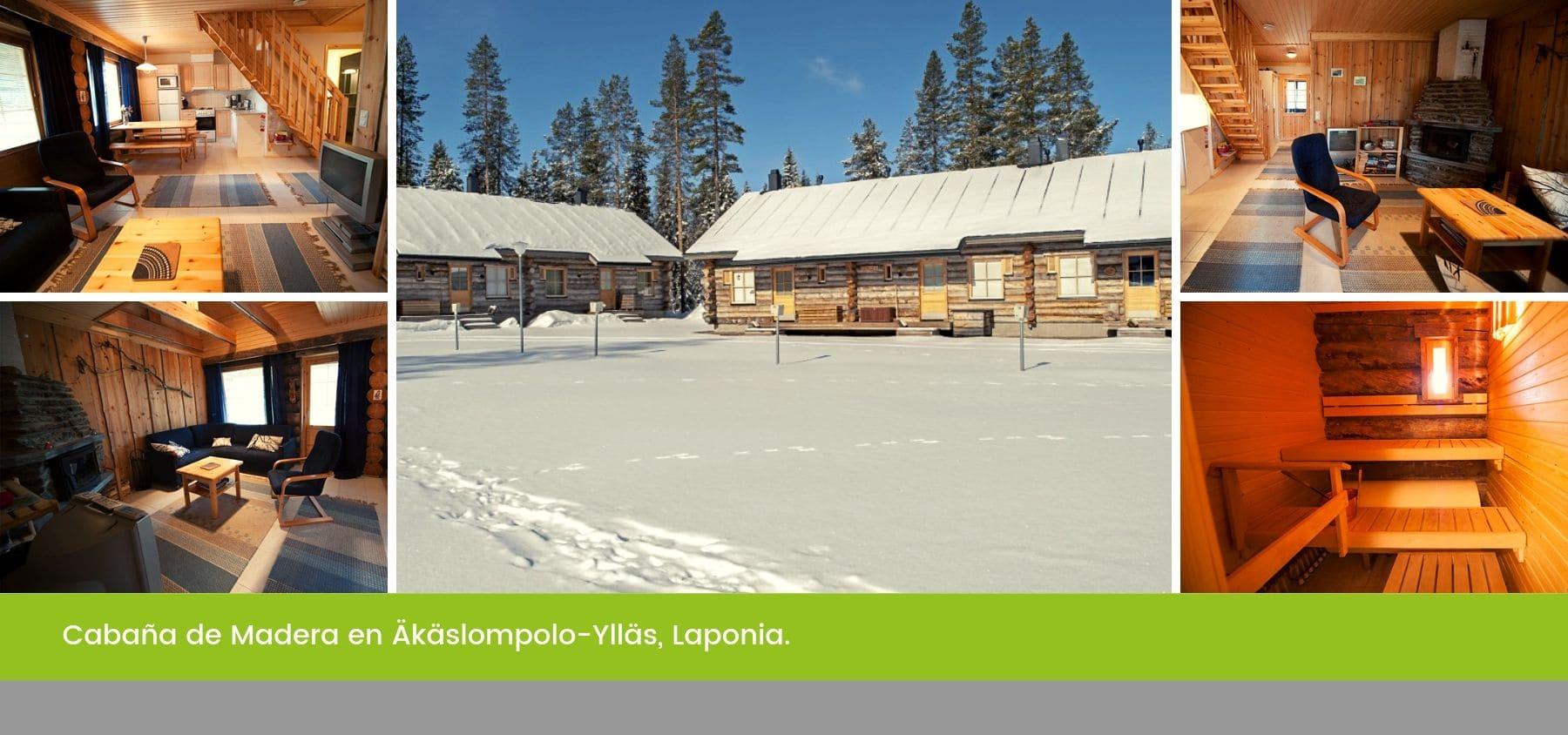 Cabaña de Madera en Äkäslompolo-Ylläs, Laponia