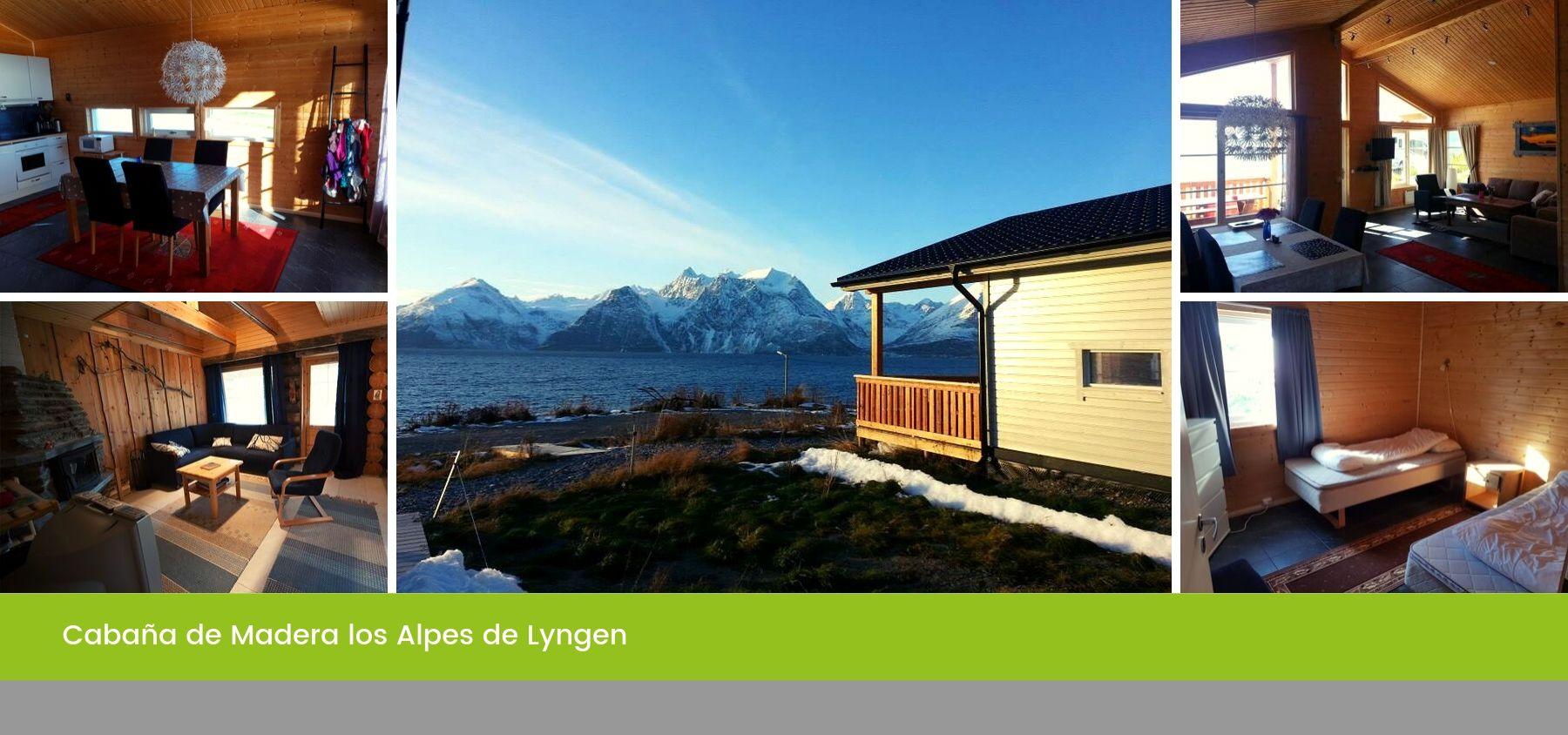 Cabaña de Madera los Alpes de Lyngen, Tromso, Noruega
