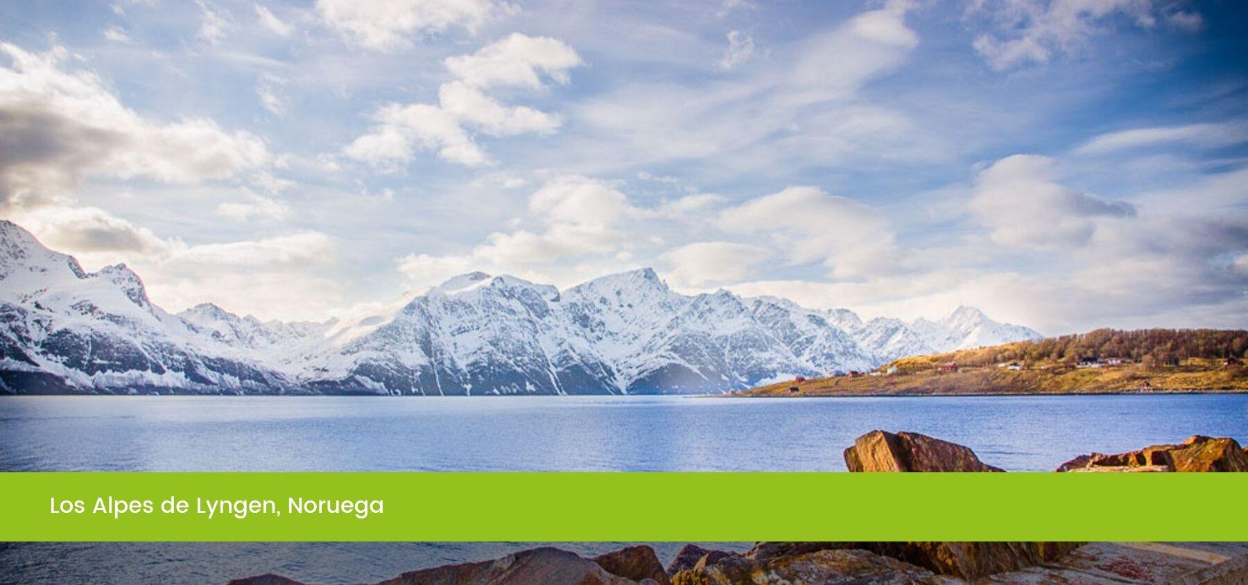 Los Alpes de Lyngen, Tromso, Noruega